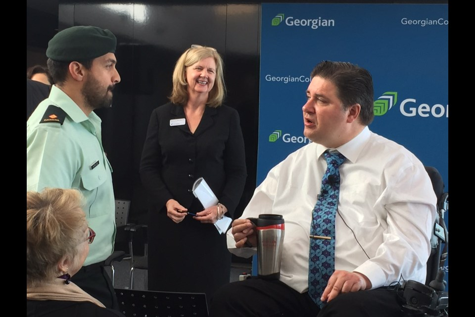 Veterans Affairs Minister Kent Hehr was at Georgian College Tuesday to announce several new educational initiatives for Veterans. Sue Sgambati/BarrieToday