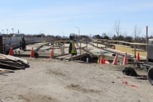 Concrete pour means traffic delays