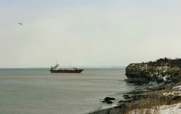 Grounded tanker