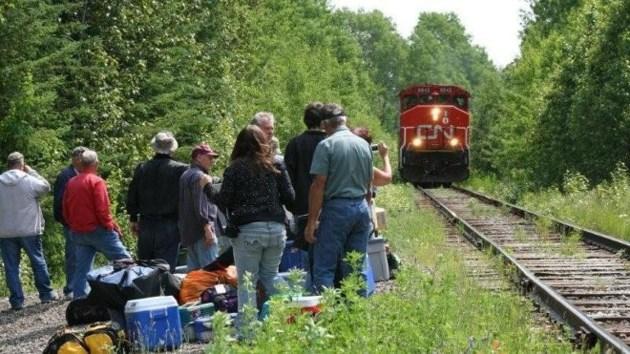 Passengers at tracks