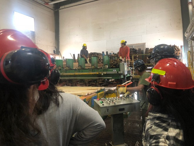 Nakina's sawmill reopened in January, creating training and job opportunities for residents of the Aroland, Eabametoong and Marten Falls First Nations. (Supplied photo)