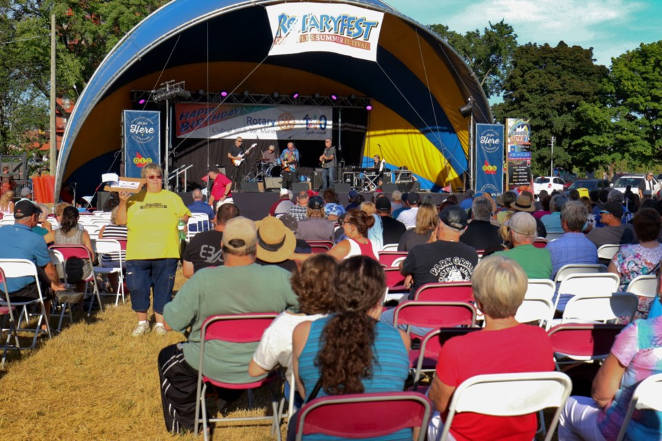 People took in some live entertainment during Thursday's musical performances on stages one and two during this year's edition of Rotaryfest. James Hopkin/SooToday