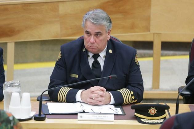 20151013 Sault Fire Chief Mike Figliola Council KA