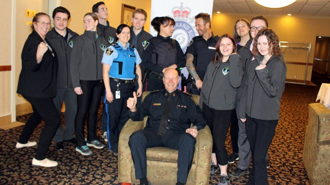 Hosted by the Greater Sudbury Police Service Chief's Youth Advisory Council (CYAC) Courage to Stand Day is to set aside to remind people of the importance of treating one another with respect and dignity and to stand up for their beliefs. (Heather Green-Oliver/Sudbury.com)