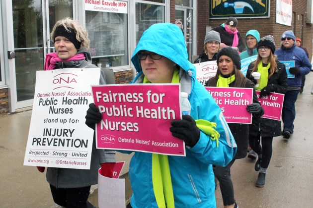 Thunder Bay Health Unit Picket